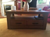 coffee table with drawers