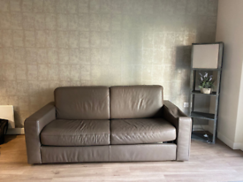 A leather double size sofa bed , Colindale NW9