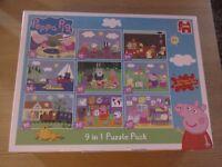 Peppa Pig Toy Bundle NEW Bumper Jigsaw pack house construction set + travel easel art set WILL POST