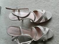 Ladies Carvella Kurt Geiger gold sandals size 41