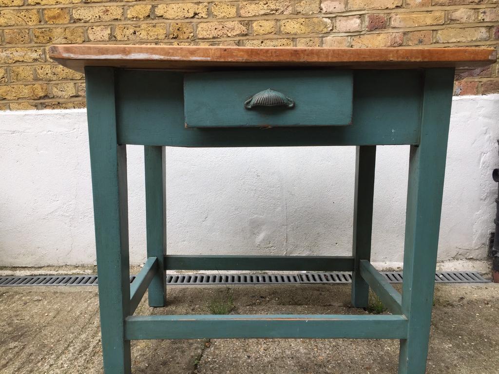 Solid wood kitchen island with oak worktop