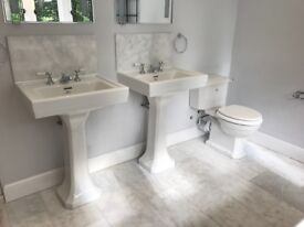 2 lefroy brooks sinks in excellent condition