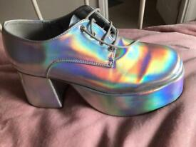 Size 10 silver platforms for sale