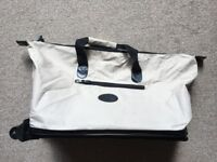 Lightweight medium size Canvas Travel Holdall on wheels - ideal for aeroplane and weekends away