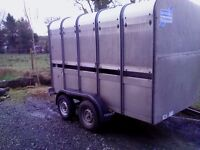 10 x 5 ifor williams cattle trailer, brakes n lights working very good condition