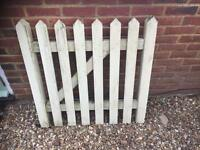 Solid Wood Picket Gate