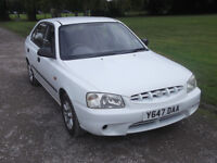2001 HYUNDAI ACCENT GSI 1.3, MOT 30TH APRIL 2017, NO ADVISORIES ON MOT, ONLY 57,000 MILES, ONLY £395
