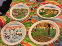 Villeroy Boch Les Quatre Saisons plates - complete set