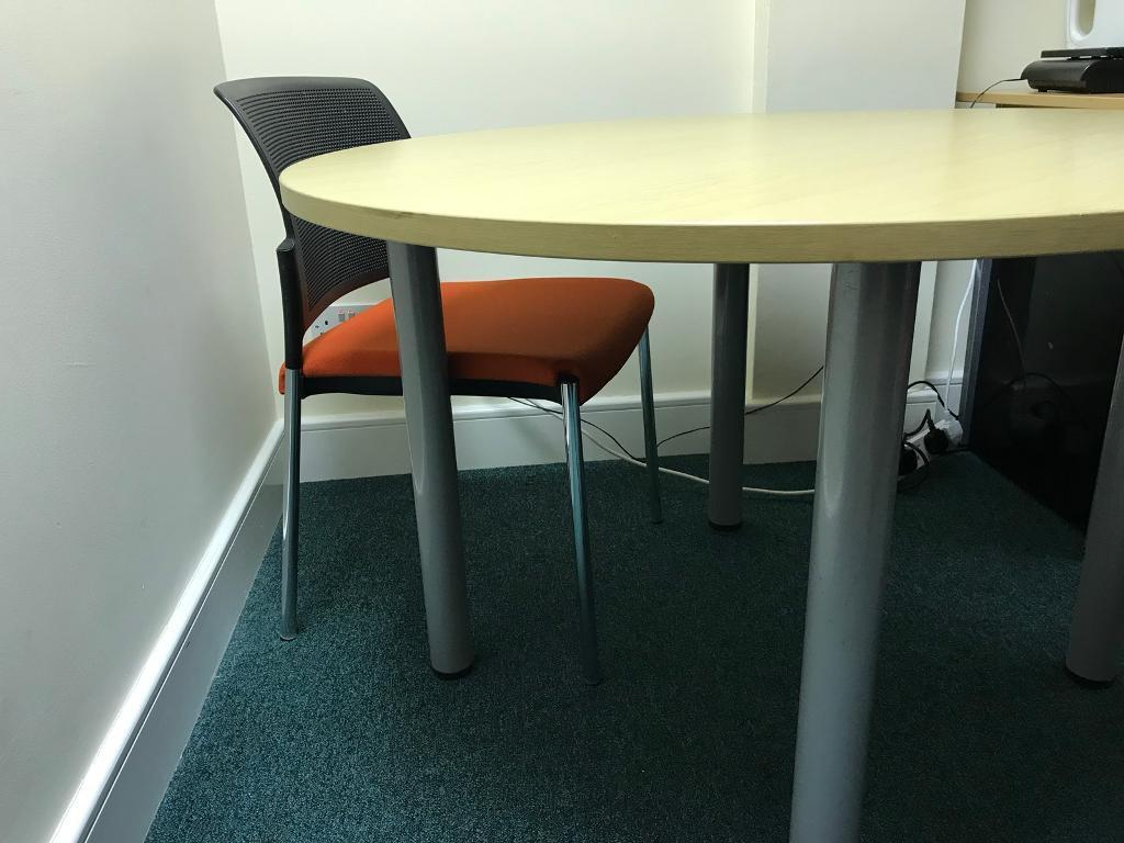 Round office table and 2 chairs games card table can sell separately