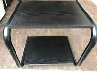 CLEARANCE black ash Tv stand FREE DELIVERY PLYMOUTH AREA