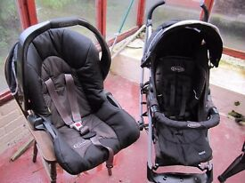 Push chair and matching car seat