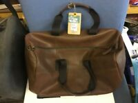 mantaray designer mens holdall brown leather