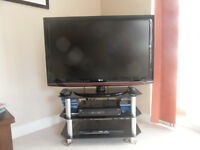 """LG 42""""1080p TV + Blu-Ray Player. Hardly used. Includes HDMI Cable + TV Stand"""