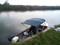 17 ft river boat with Binni top. ideal for fishing.