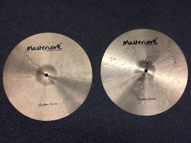 "Masterwork Custom Series 15"" Hi-Hats - MINT Condition"