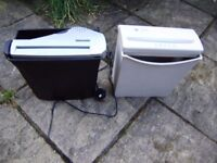Shredder, 2 electric shredders in excellent condition