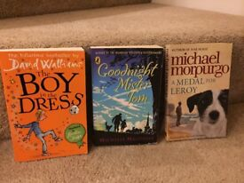 The Boy in the Dress, Goodnight Mister Tom and A Medal for Leroy Books in Excellent Condition