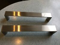 25 Chrome effect square bar handles