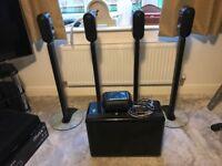 Q Acoustics 7000 5.1 Speaker Package inc. floor stands