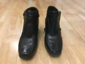 Pavers Black Leather Boots
