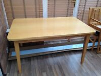 Wooden Dining Table 6 Chairs