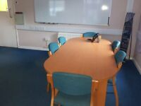 Large Office Table and 6 Chairs