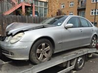 05 MERCEDES E220 CDI AUTO FULL CAR BREAKING FOR ANY PARTS CALL ON