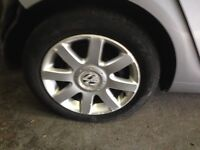 16 inch set of 4 alloy wheels and tyres for mk5 Golf GT TDi £150
