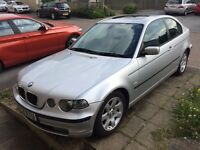 BMW 318ti SE Compact Auto in Silver. MOT July 2017. 100k. FSH with 11 stamps.