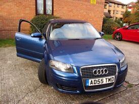 Audi A3, 2005 1.6 Petrol SE FSI Sportback , 5 Door Blue, Manual