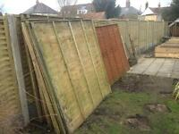 12 X Fence panels 6ft and 5ft available