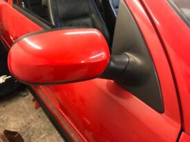 Corsa c manual mirror driver side red