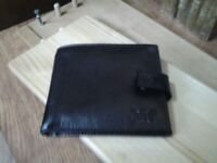 armani black leather wallet