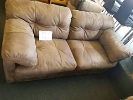 Alaxander and James Brown suede 2 seater sofa