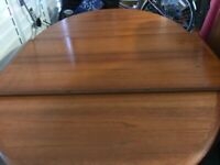 Solid teak table & 6 chairs