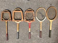 Vintage / Antique Tennis Rackets - 5 In This Job Lot - All Good Condition - Must Go
