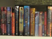Rick Riordan Percy Jackson series and other books by Riordan