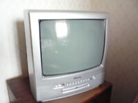 """14"""" TV with built in DVD player"""
