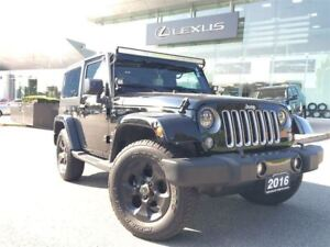 2016 Jeep Wrangler Sahara Low KM Navi Bluetooth Removable Roof