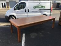 Large Oak Refectory Dining Boardroom Table