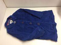 Girl's 3-4 Boden Coat Cord Blue