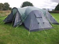 Outwell Hartford L - 8 person, triple room dome tent.