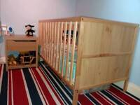Cot bed with Mattress & optional bedding bundle