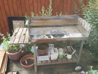 Large traditional garden barbeque