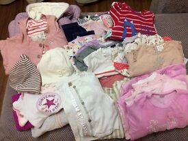 Baby Girls Clothes Bundle 0-12months over 70 items