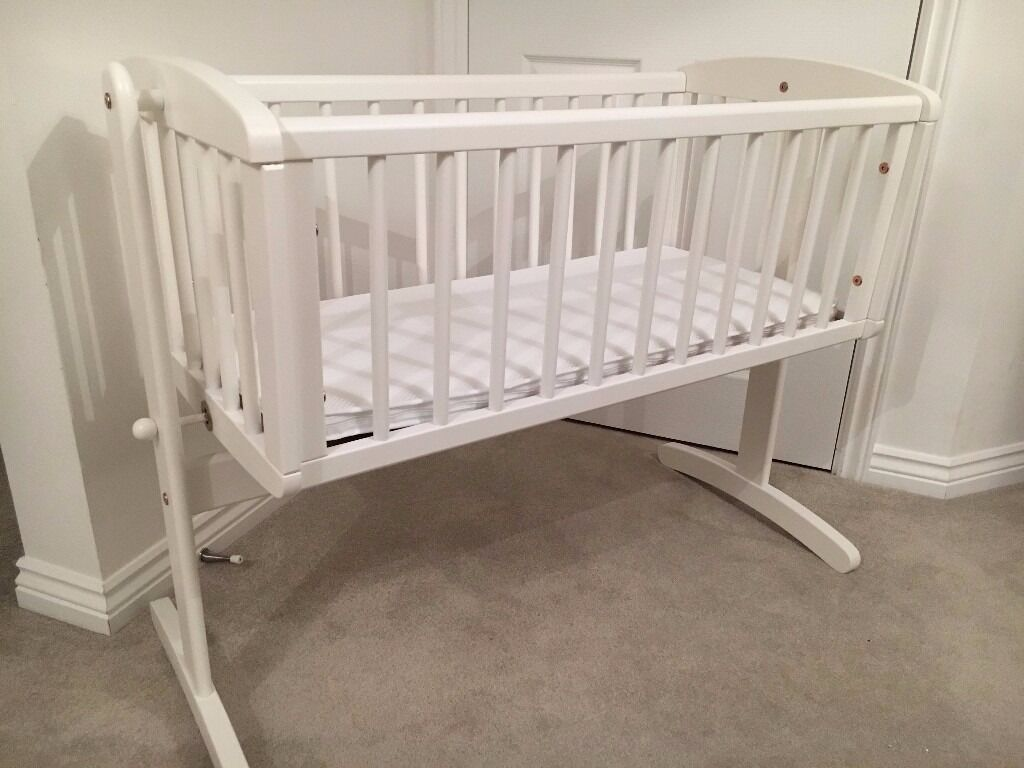 Crib for sale essex - Mothercare Swinging Crib With Mothercare Airflow Foam Crib Mattress Great Condition