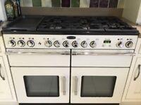 Large cream wooden kitchen for sale includes rangemaster