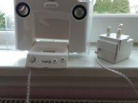 ipod logic docking station white great condition with plug
