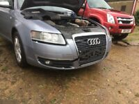Breaking Audi A6 C6 2.0 Tdi Auto, engine code BRE, color code LY7H spares or repairs