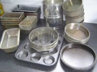 Various baking tins -for bread, sponges, cakes & cup cakes